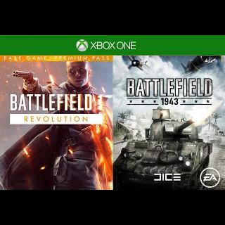Battlefield 1 Revolution + Battlefield 1943 XBOX CD KEY
