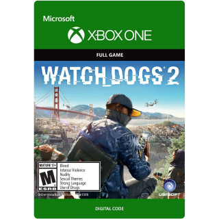 WATCH DOGS 2 XBOX ONE (REGION USA) [𝐈𝐍𝐒𝐓𝐀𝐍𝐓] 🔑✅ CDKEY