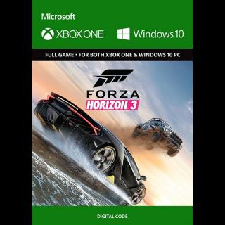Forza Horizon 3 Xbox One / Windows 10 CD KEY.
