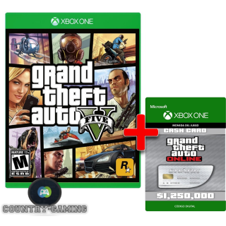 GTA V ESTANDAR EDITION XBOX ONE + Great White Shark Cash Card  REGION USA [𝐈𝐍𝐒𝐓𝐀𝐍𝐓] 🔑✅ CDKEY
