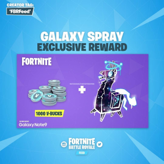Fortnite Galaxy llama Spray +1000 Vbucks