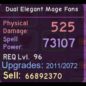 Other | Dual Elegant Mage Fans