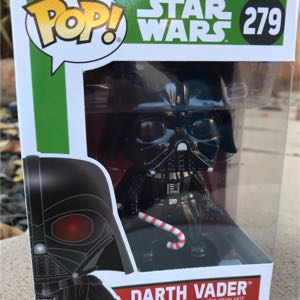 Funko Pop Star Wars Disney Holidays Candy Cane Darth Vader 279 Bobblehead BLEMISHED BOX