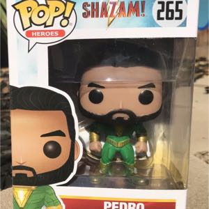 Funko Pop Heroes Shazam Pedro 266 Vinyl Figure Collectible BLEMISHED BOX SEE PHOTOS