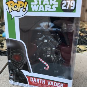 Funko Pop Christmas Darth Vader 279 Star Wars Funko Pop Bobblehead with Candy Cane