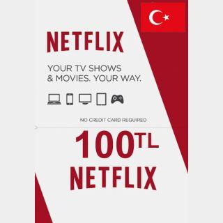 100 TL Netflix Gift Card Turkey