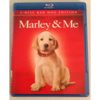 Marley and Me 3 Disc Bad Dog Edition Blue Ray with Owen Wilson and Jennifer Anniston
