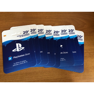 €20.00 PlayStation Store Network Card (PSN) SPAIN España DIGITAL DELIVERY code key
