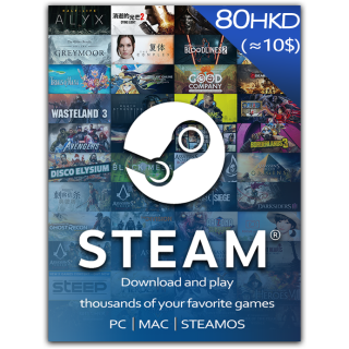 $10.00 Steam Gift Card GLOBAL (Instant Delivery)