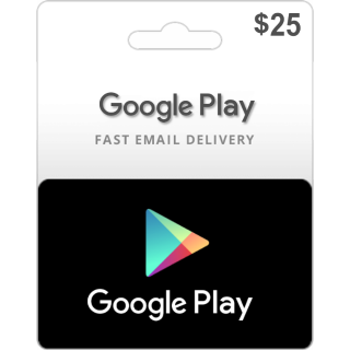 $25.00 Google Play Gift Card 25 USD (Instant Delivery)