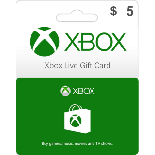 $5.00 Xbox Gift Card 5 USD (Instant Delivery)