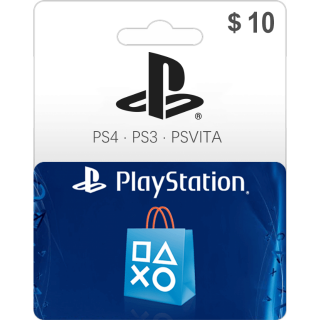 $10.00 PSN PlayStation Store Gift Card 10 USD (Instant Delivery)