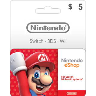$5.00 Nintendo eShop Gift Card 5 USD (Instant Delivery)