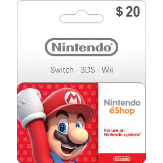 $20.00 Nintendo eShop Gift Card 20 USD (Instant Delivery)