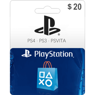 $20.00 PSN PlayStation Store Gift Card 20 USD (Instant Delivery)