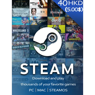 $5.00 Steam Gift Card GLOBAL (Instant Delivery)