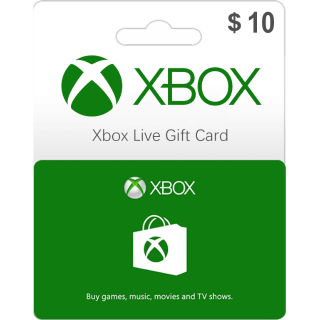 $10.00 Xbox Gift Card 10 USD (Instant Delivery)