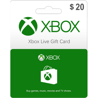 $20.00 Xbox Gift Card 20 USD (Instant Delivery)
