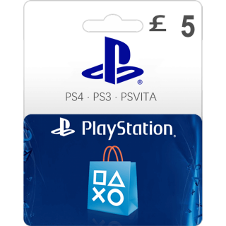 £5.00 PlayStation Store Gift Card 5 UK (Instant Delivery)