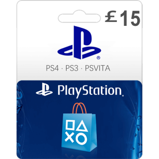 £15.00 PlayStation Store Gift Card 15 UK (Instant Delivery)