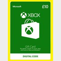 £10 GBP Xbox Gift Card Key/Code UK Account