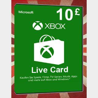 £10 GBP Xbox Gift Card Key/Code UK Account