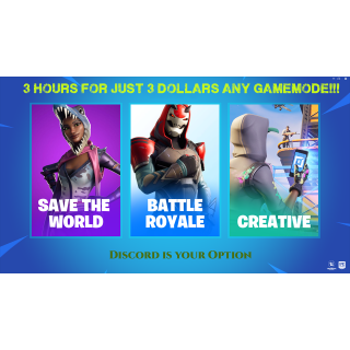 I will Play with you on Fornite with you 3 hours