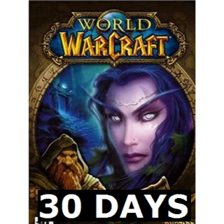 World of warcraft US 30 days game time - instant delivery