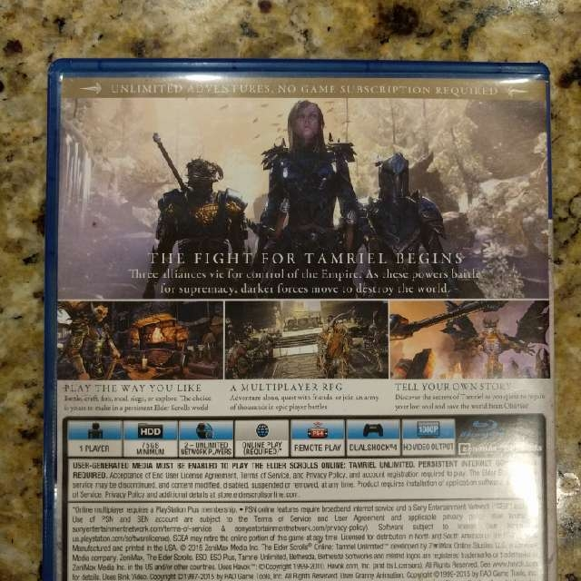 Elder Scrolls Online: Tamriel Unlimited - PS4 Games (Like New