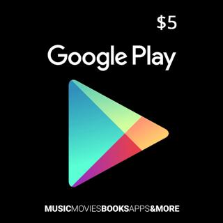 $5.00 Google Play (INSTANT - USA) ✔✔