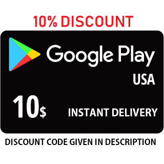 $10 Google Play (Discrptin for Discount)  (INSTANT) (USA) ✔✔
