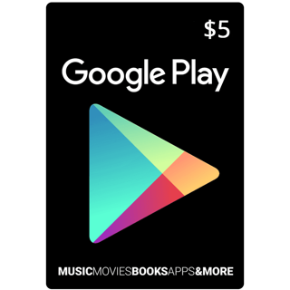 $5 Google Play (Discrptin for Discount)  (INSTANT) (USA) ✔✔