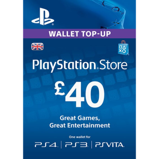 £40.00 PlayStation Store UK ONLY