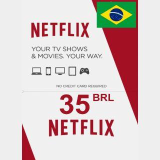 Netflix cards 35,00 BRL Brazil