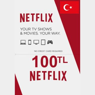 100 TL Netflix Gift Card - Turkey - Instant Delivery