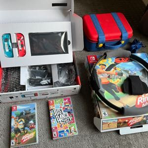 Nintendo switch with Ringfit & 8 purchased games