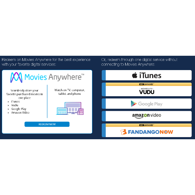Avengers Infinity War Digital HD Code ITunes Prime Video VUDU Google