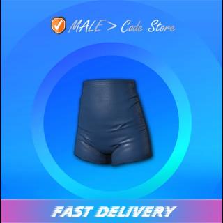 PUBG   High Waisted Shorts Blue