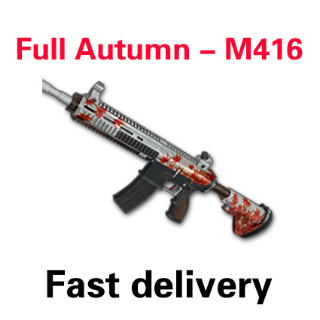 M416 Full Autumn / M4 Maple Leaf   PUBG CODE