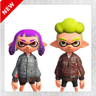 Splatoon 2 Gear Set - 2 codes (JP REGION)