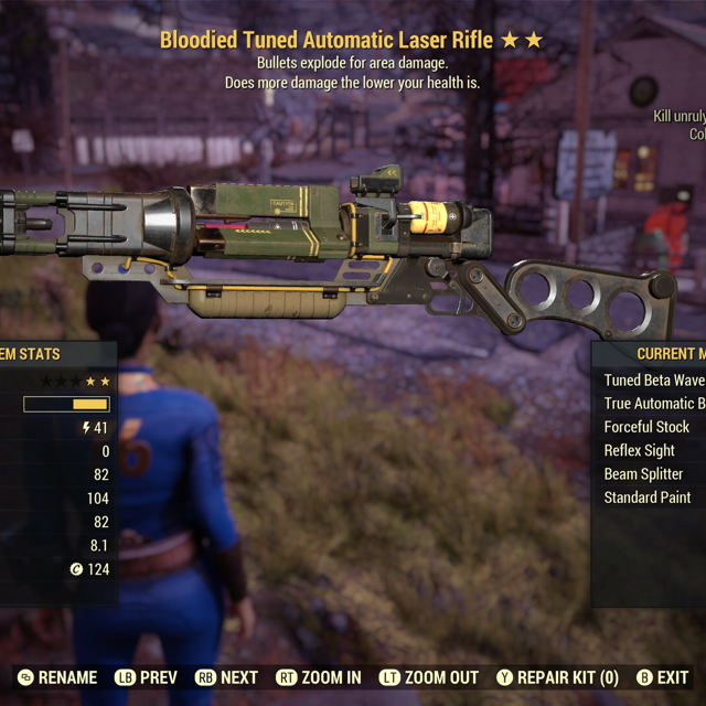 Weapon | Bloodied Explosive Laser Rifle