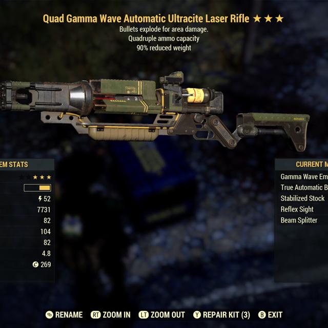 Weapon | Quad Explosive Laser Rifle