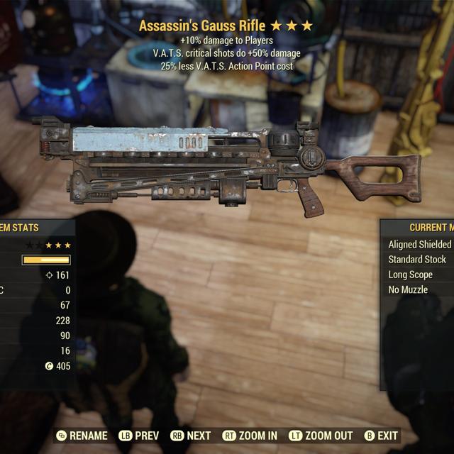Weapon | Assassin Double VATS Gauss Rifle