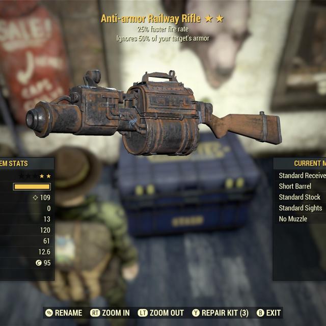 Weapon | AA FFR Railway Rifle