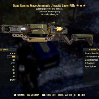 Weapon | Quad Exp Laser Rifle