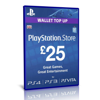 £25 UK Sony PlayStation Network Card ( GREAT DISCOUNT COUPON ON MY PROFILE ) 25%OFF