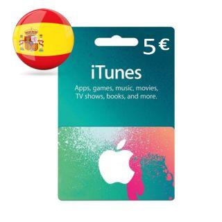 €5.00 iTunes Spain Euro Balance  Apple AppStore