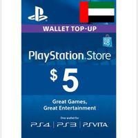 $5.00 PlayStation Store UNITED ARAB EMIRATES - UAE