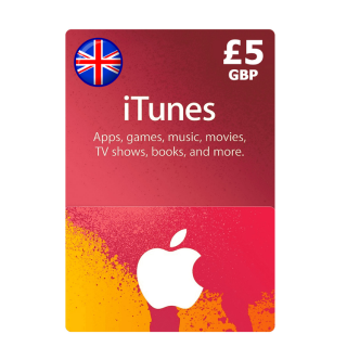£5.00 iTunes UK Apple Store Giftcard   Great Britain