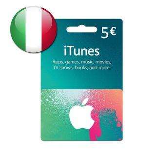 €5.00 iTunes Italy Euro Balance Apple AppStore